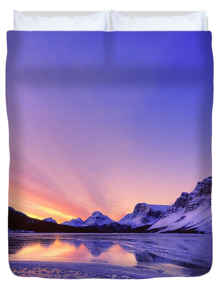 Bow Lake And Pine Duvet Cover