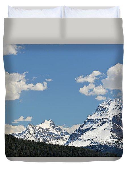Bow Lake Mountains Duvet Cover