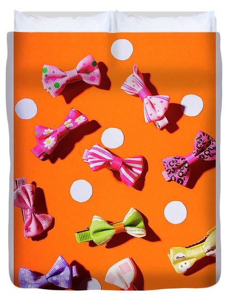 Duvet Cover featuring the photograph Bow Tie Party by Jorgo Photography - Wall Art Gallery