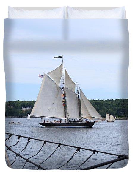 Bowditch Under Full Sail Duvet Cover