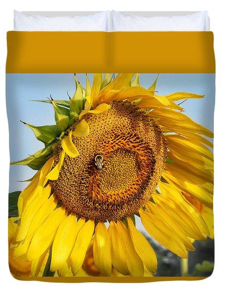 Bowed Sunflower Duvet Cover