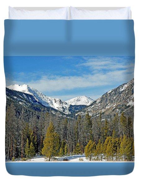 Bowen Mountain In Winter Duvet Cover