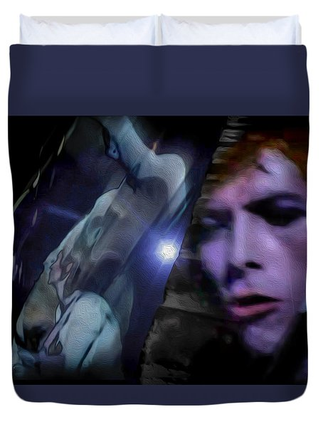 Bowie   A Welcome Star Duvet Cover