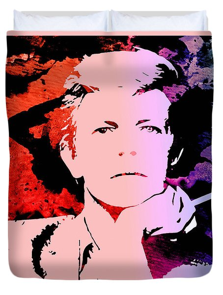Bowie Alive In Color Duvet Cover