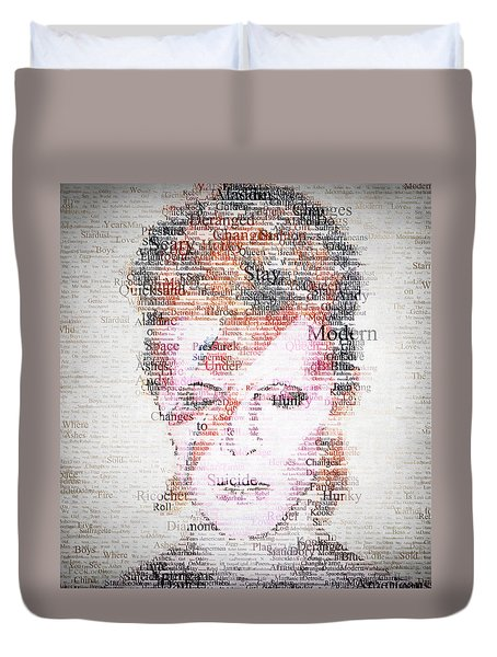 Bowie Typo Duvet Cover