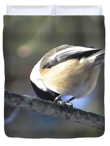 Bowing On A Branch Duvet Cover