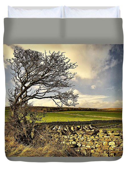 Bowing To The Wind Duvet Cover