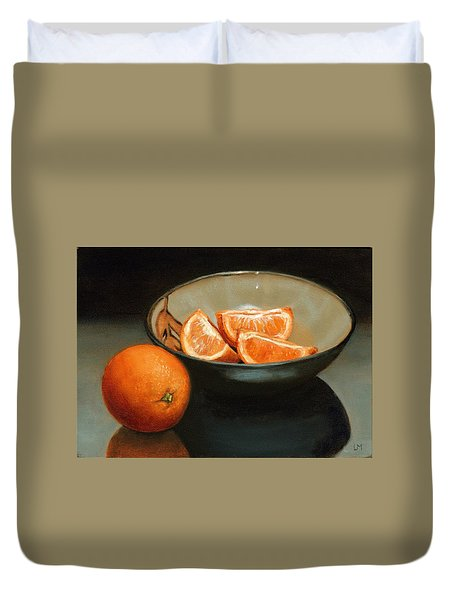 Bowl Of Oranges Duvet Cover