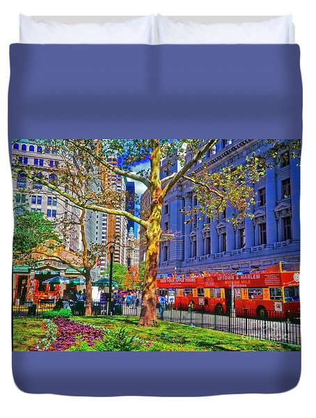 Bowling Green Station Nyc Duvet Cover