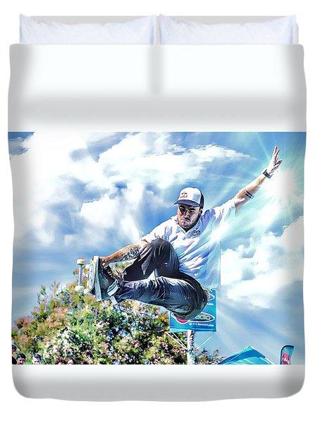 Bowlriders, Skateboarder Duvet Cover
