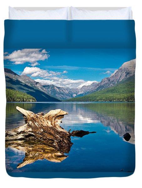Bowman Lake 1, Glacier Nat'l Park Duvet Cover