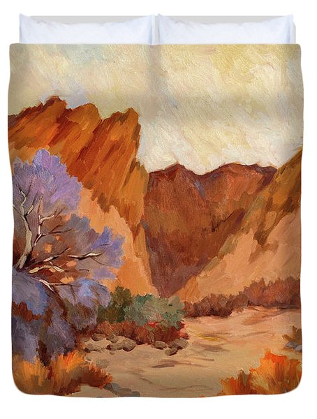 Box Canyon Duvet Cover by Diane McClary