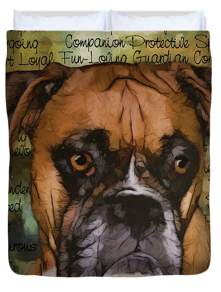 Boxer Character Duvet Cover