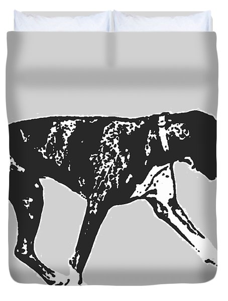Boxer Dog Tee Duvet Cover