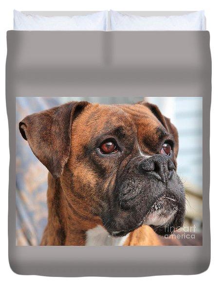 Boxer Portrait Duvet Cover