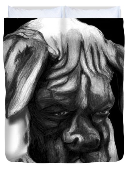 Boxer Puppy Duvet Cover by Enzie Shahmiri