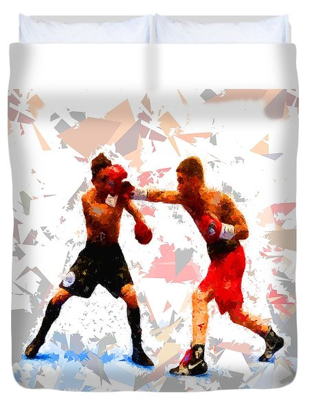 Duvet Cover featuring the painting Boxing 113 by Movie Poster Prints