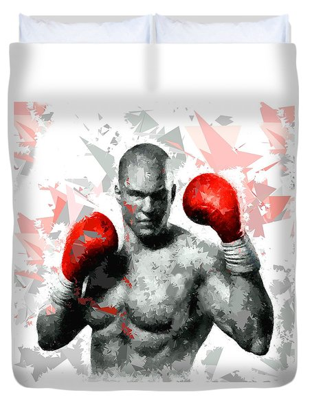 Duvet Cover featuring the painting Boxing 114 by Movie Poster Prints