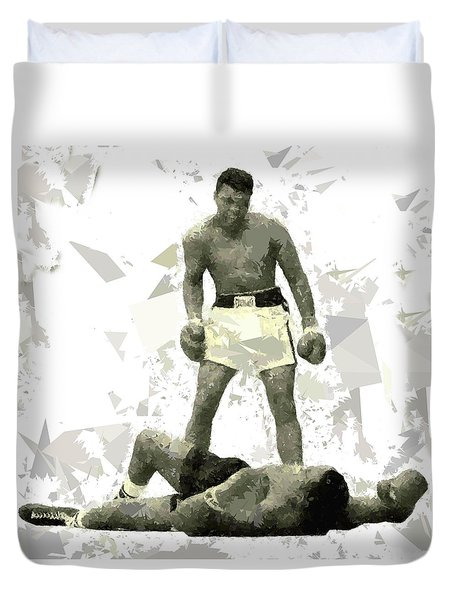 Duvet Cover featuring the painting Boxing 115 by Movie Poster Prints