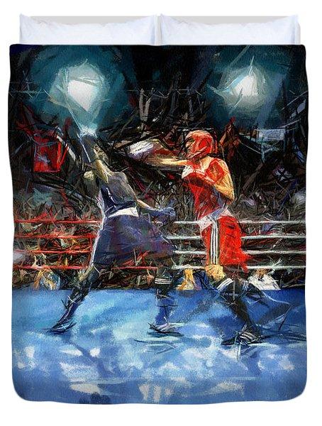 Boxing Night Duvet Cover by Murphy Elliott