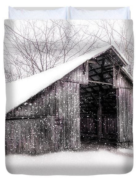 Boxley Snow Barn Duvet Cover