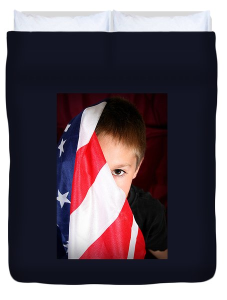 Boy And His Country Duvet Cover