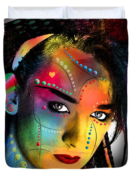 Boy George  Duvet Cover by Mark Ashkenazi