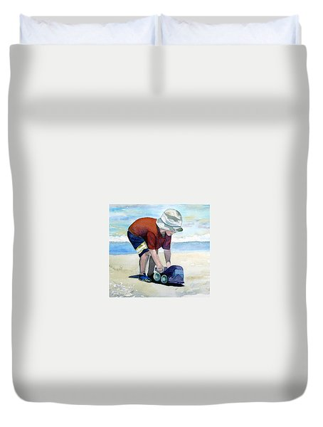 Boy With Truck Duvet Cover
