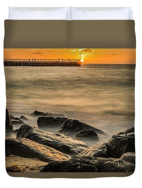 Duvet Cover featuring the photograph Boynton Beach Sunrise by Michael Sussman