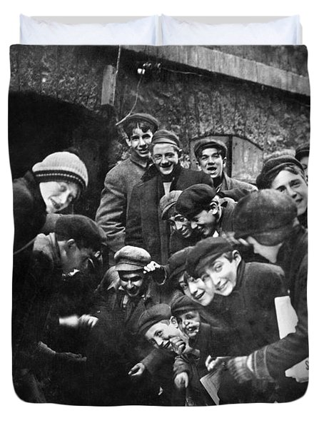 Boys Shooting Craps, C1910 Duvet Cover