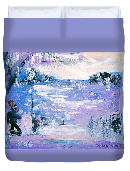 Be Brave By Colleen Ranney Duvet Cover