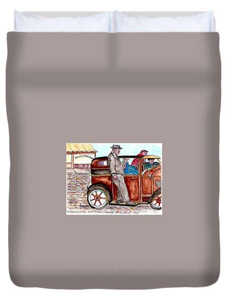 Bracco Candy Store - Window To Life As It Happened Duvet Cover
