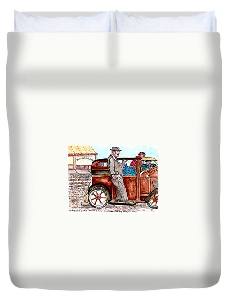 Bracco Candy Store - Window To Life As It Happened Duvet Cover by Philip Bracco