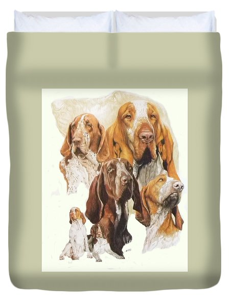 Bracco Italiano W/ghost Duvet Cover by Barbara Keith