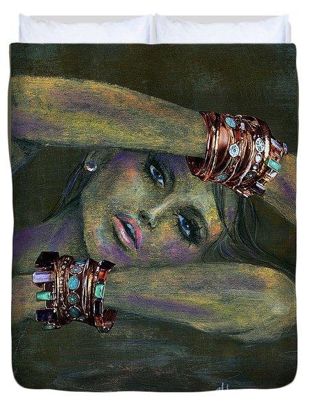 Bracelets  Duvet Cover by P J Lewis