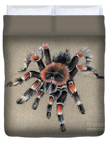 Brachypelma Smithi  Mexican Red Knee Tarantula Duvet Cover