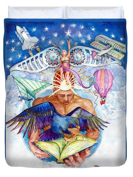 Brain Child Duvet Cover by Melinda Dare Benfield