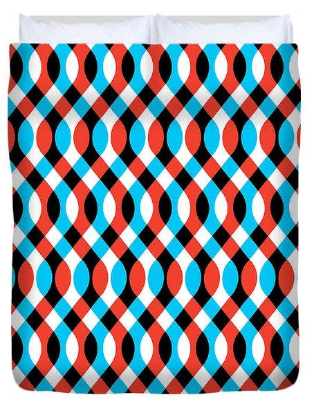Brain Waves - Blue Duvet Cover