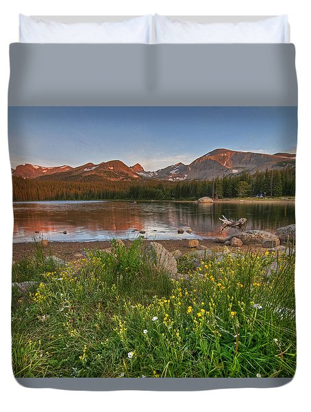 Duvet Cover featuring the photograph Brainard Lake by Gary Lengyel