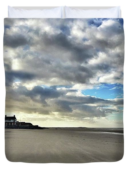 Brancaster Beach This Afternoon 9 Feb Duvet Cover by John Edwards