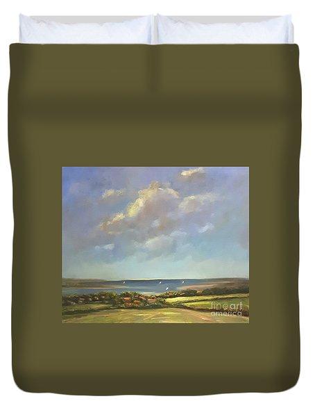 Brancaster Staithes, Norfolk Duvet Cover