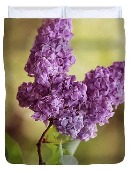 Branch Of Fresh Violet Lilac Duvet Cover