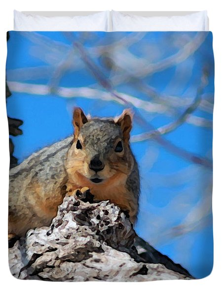 Branch Squirrel Duvet Cover