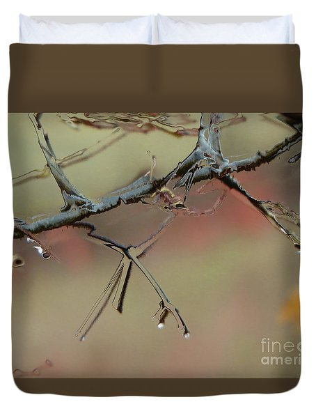 Branch With Water Abstract Duvet Cover by Craig Walters