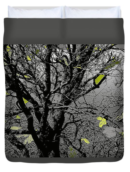 Branches In Green II Duvet Cover