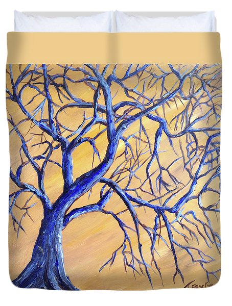 Branches Of Blue Duvet Cover