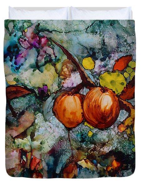 Branches Of Fruit Duvet Cover
