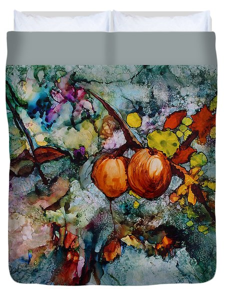 Branches Of Fruit Duvet Cover by Joanne Smoley