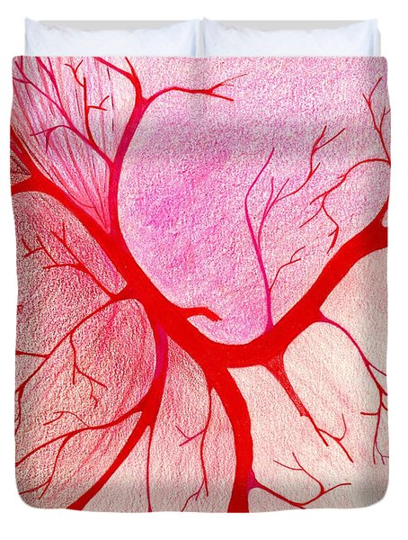Branches Of Red Duvet Cover