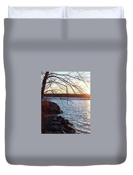 Late-summer Riverbank Duvet Cover